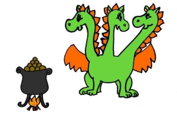 Pohádka o drakovi, který měl rád brambory