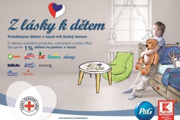Český červený kříž, Procter & Gamble a Kaufland spouští iniciativu na pomoc  potřebným dětem