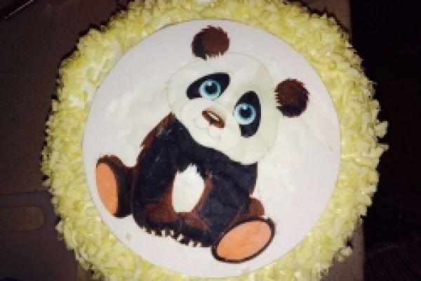 Šlehačkový dort Panda