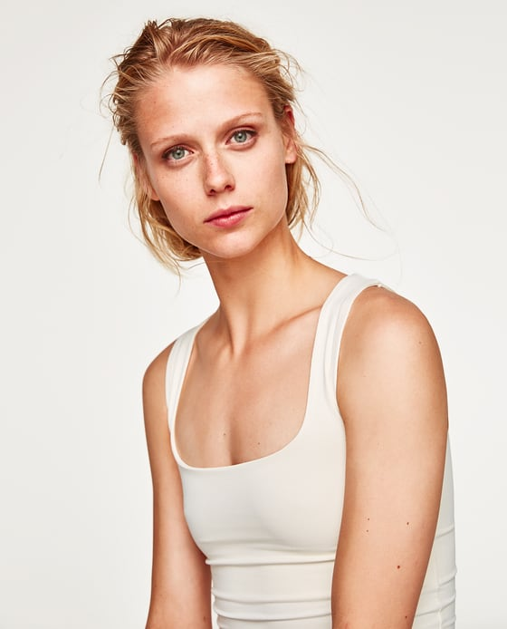 zara basics top bily